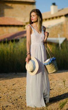 Zara White Loose Fitting Button Up Flowy Maxi Tank Dress