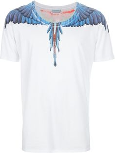 Marcelo Burlon County of Milan 'Libre' Print Tee Pant Shirt, Neck T Shirt, T Shirt World, Casual Wear For Men, Jean Shirts, Printed Tees, Cool T Shirts, Shirt Designs, Menswear