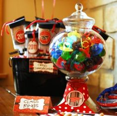 Check out this clever graduation party snack!  Get the decorations you need for your graduation party at Old Time Pottery!  Check out this easy graduation party snack idea!  Get the dishes and decorations you need for your graduation party at Old Time Pottery!  http://www.oldtimepottery.com/