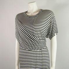 Vintage Comme des Garcons Striped Full Length T-Shirt Dress - Mid 1980s