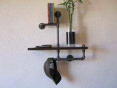 The Entry Way Organizer Pipe Shelf by vintagepipedreams on Etsy, $179.00
