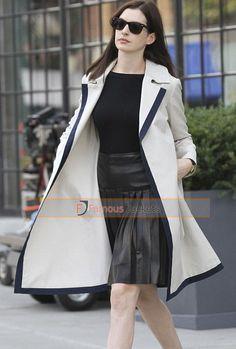 The Intern Anne Hathaway (Jules Ostin) White Coat  #TheInternCoat #AnneHathawayCoat #JulesOstinCoat