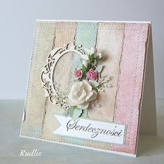 like the pastel softness of this card! Scrapbooking, Scrapbook Cards, Cricut Cards, Paper Artist, Pretty Cards, Card Sketches, Happy Birthday Cards, Card Tags, Cool Cards