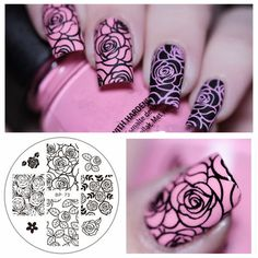 Rose Flower Nail Art Stamping Template Image Plate BORN PRETTY BP-73 Nail Stamping Plates Manicure Stencil Set * You can find more details by visiting the image link.