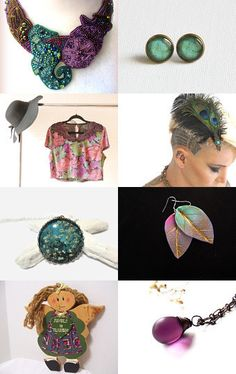 Water Peacock by Semi Vintage on Etsy--Pinned with TreasuryPin.com