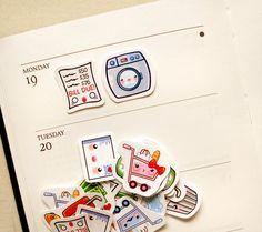 Ménage mignon Planner Stickers : Kawaii par BeagleCakesArt sur Etsy