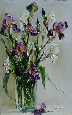 Irises Oil Painting