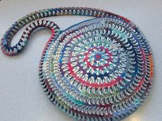 Round Can Tab Purse by cindycreativecrochet, via Flickr