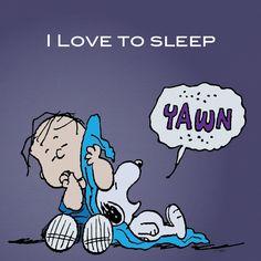 I Love To Sleep.