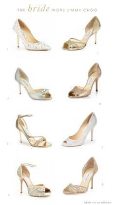 Wedding Shoes by Jimmy Choo  Come to J Vincent Jewelers for all your wedding and beautiful jewelry! Follow @jvincentjewelers www.jvincent.com