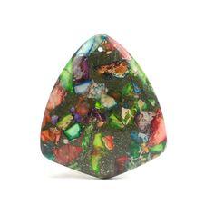 Sédiments de mer coloré et Pyrite Collier par ABSBeadSupplies
