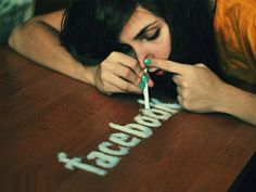 As society as a whole the younger generation is becoming addicted to technology. With this being said, there is a dependence on social media that occurs. The metaphor of this photo shows that Facebook is as addictive as cocaine. In many aspects this is true as it is integrated into many peoples lives as a daily practise or routine.