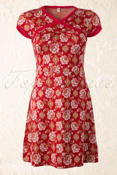 Blutsgeschwister - 50s Red Floral Magic Dress