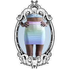 Pastel Rainbow Ombre Bodycon Skirt by ToothAndEye, designed and handmade in Kamloops, BC, Canada!