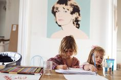 Robert Geller and Ana Lerario-Geller – Fashion Designers and kids Luna and Anis and friend Zizu at Home in Brooklyn « the selby