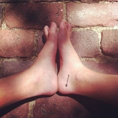74 Of The Tiniest, Most Tasteful Tattoos Ever: if I ever were to get one...but higher on the ankle or centered on the side of the foot