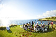 Oceanfront Wedding Ceremony at Mauna Kea Resort, Big Island, Hawaii.  Book your family's vacation rentals with South Kohala Management and chose from the best collection of rental properties in the resort. SouthKohala.com