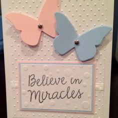 Twin baby shower card- by Cecily