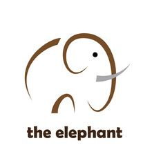 Simple Vector Logo elephant