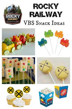 These Rocky Railway VBS Snack Ideas will help get VBS children fueled up and on the right track to an exciting and fun VBS experience! Train Crafts, Vbs Crafts, Trains Birthday Party, Train Party, Car Party, Vbs Themes, Food Themes, Bible School Snacks, Vacation Bible School