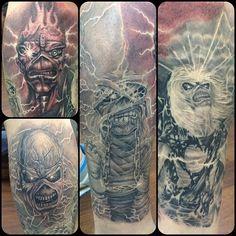 """IRON MAIDEN CAN'T BE FOUGHT"" had a great time doing this #empiretattoo #keithbmachineworks #kinpintattoosupply #eternalink #redemptiontattoocare #masstattoonetwork #newenglandtattoonetwork #newbedfordtattoo #blackngreytattoo #TCM #tattoo #tat2magazine #the_inkmasters #TattooArtistMagazine #ironmaiden #ironmaidentattoo #powerslave #powerslavetattoo #liveafterdeath #liveafterdeathtattoo #troopertattoo #seventhson #seventhsontattoo #tattoo #bostontattoo www.empiretattooinc.com"