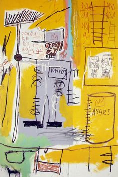 Jean-Michel Basquiat -- Ashes, 1981.  Neo-expressionism