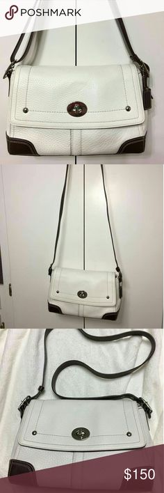 White Coach Hamilton This is a coach bag in like new condition. I rarely carried it and took very good care of it. Coach Bags Crossbody Bags