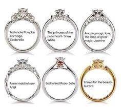 Disney themed wedding rings