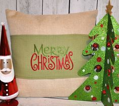 Christmas Pillow Wrap for 18 inch Pillow - pinned by pin4etsy.com