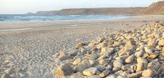 The very beautiful beach at Sennen Cove in Cornwall.