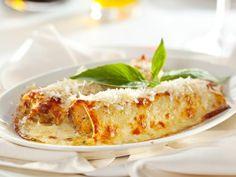 parmesan râpé, canneloni, crême fraîche, saumon, ricotta, épinard