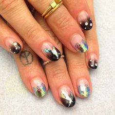 Holographic nail inspiration for New Year's Eve.