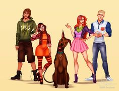 Modern Scooby-Doo Character Designs :  Isaiah Stephens Art gave the characters from the beloved retro cartoon Scooby-Doo updated looks! This is what he imagined they would look like if they were around solving mysteries today...