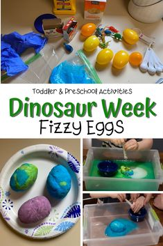 The coolest dinosaur activity EVER said every dinosaur-loving kid out there! In this fizzy dinosaur theme science activity your kids can hatch out their favorite dinosaurs! Toddler Gross Motor Activities, Dinosaur Activities, Fun Activities For Toddlers, Phonics Activities, Kindergarten Activities, Science Activities, Toddler Preschool, Toddler Crafts, Teaching History