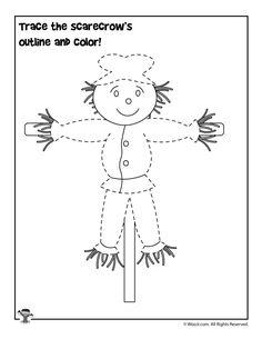 Trace the Scarecrow Worksheet Young Toddler Activities, Preschool Learning Activities, Preschool Curriculum, Preschool Themes, Kindergarten Activities, Preschool Activities, Preschool Projects, Preschool Printables, Preschool Classroom