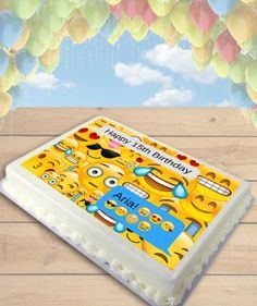 Emoji Text Message Edible Frosting Image Cake Topper [SHEET]