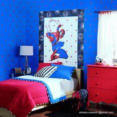 Quarto decorado do homem aranha