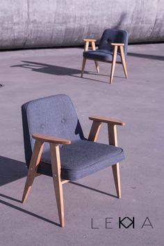 Armchair designed by J. Chierowski model: 366 age: 1962 redesigned by LEKKA furiture   Fotele projektu prof. J.Chierowskiego. model: 366 datowanie: 1962 renowacja: LEKKA furniture