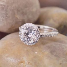 A breathtaking halo engagement ring