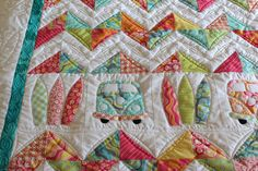 What can I say! I am so in love with this quilt and if youre a lover of all things summer, fun, surf and of course the iconic Kombi, then you