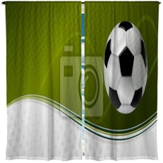 Soccer Ball In Field Shower Curtain