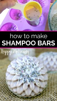 If you've seen solid shampoo bar brands at the salon or Lush, you may be thinking of switching to zero waste hair care products. Learn the benefits of, how to make your own Diy Shampoo, How To Make Shampoo, Solid Shampoo, Homemade Shampoo, Natural Shampoo, Shampoo Bar, Natural Soaps, Natural Haircare, Homemade Beauty Recipes