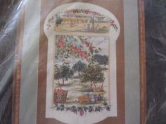 """cross stitch kit """"Apple Orchard"""" by MaddisonsRainbow on Etsy Apple Orchard, Cross Stitch Kits, Unique Jewelry, Handmade Gifts, Vintage, Etsy, Kid Craft Gifts, Craft Gifts, Costume Jewelry"""