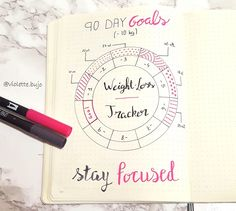 weight loss tracker bullet journal #bulletjournal #tracker #weight #goals #90daygoals #journal
