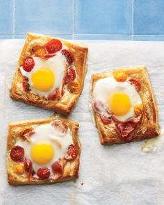 Tomato, Egg, and Prosciutto Tarts Recipe