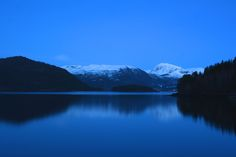 Blue silence. - Aure, Møre and Romsdal county, Norway. In March.
