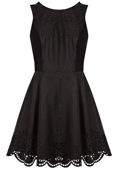 Leather Cutwork Detail Dress