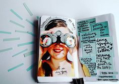 Stitch and Letter | It Is In YOU | Season of Happy | Get Messy Art Journal