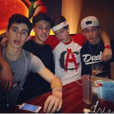 Nash Grier, Cameron Dallas, Taylor Caniff and Carter Reynolds!