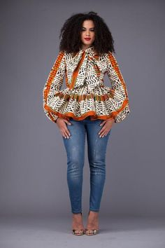 African Design Francoise Top | Grass-fields
